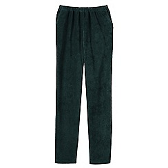 Lands' End - Green stretch-knit cord trousers