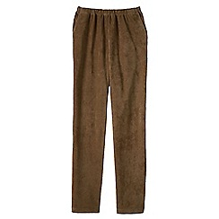 Lands' End - Brown stretch-knit cord trousers