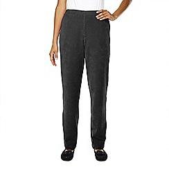 Lands' End - Grey petite stretch-knit cord trousers