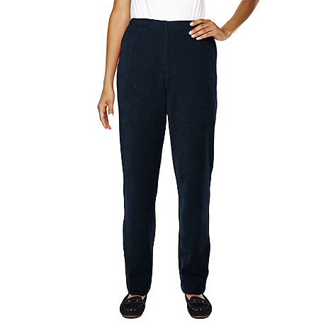 Lands+ End - Blue petite stretch-knit cord trousers