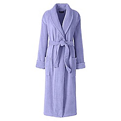 Lands' End - Purple plus terry dressing gown