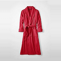 Lands' End - Red women's terry dressing gown