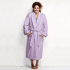 Lands' End - Purple women's plus terry dressing gown