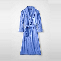 Lands' End - Purple terry dressing gown