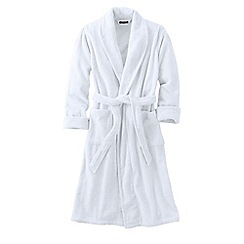 Lands' End - White women's terry dressing gown