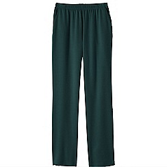 Lands' End - Green women's regular sport knit trousers