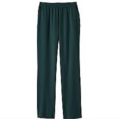Lands' End - Green women's regular sport knit trousers