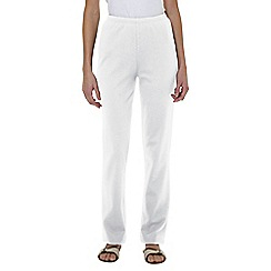 Lands' End - White regular sport knit trousers