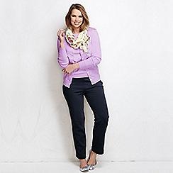 Lands' End - Blue women's cotton jersey trousers
