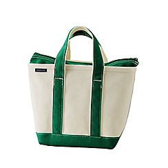Lands' End - White zip top canvas tote bag