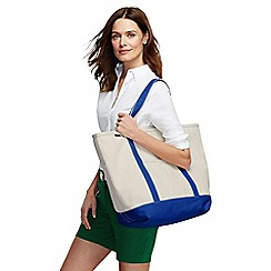 Lands' End - Beige large zip top canvas tote shopper