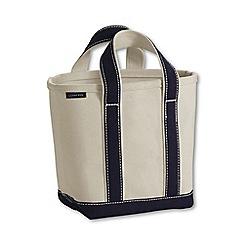 Lands' End - White medium open top canvas tote bag