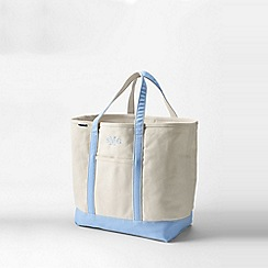 Lands' End - Beige medium open top canvas tote bag