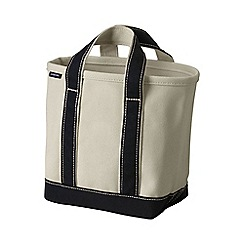 Lands' End - White medium open top canvas tote bag