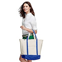 Lands' End - Beige large open top canvas tote bag