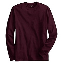 Lands' End - Red tall long sleeve super-t traditional fit