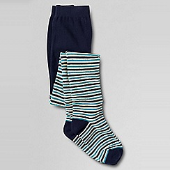 Lands' End - Blue girls' pattern tights
