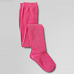 Lands' End - Pink girls' pattern tights