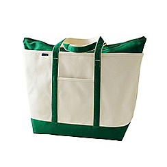 Lands' End - White extra large canvas zip top tote shopper