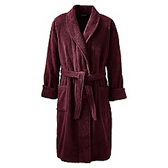 Lands' End - Red regular Turkish terry bath robe