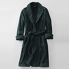 Lands' End - Green men's regular 11-ounce turkish terry calf-length robe