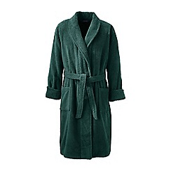Lands' End - Green regular turkish terry bath robe