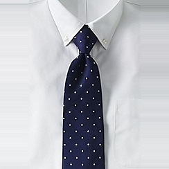 Lands' End - Blue men's regular churchill dot hand-sewn silk tie