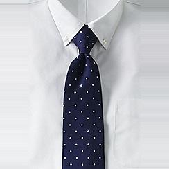 Lands' End - Blue men's regular churchill dot hand-sewn silk tie