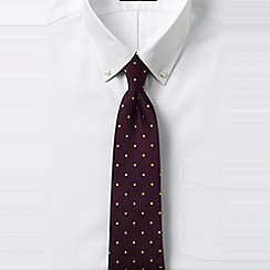Lands' End - Black regular churchill dot hand-sewn silk tie