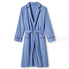 Lands' End - Blue broadcloth dressing gown