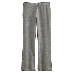 Lands' End - Grey Girls' Flared Yoga Pants