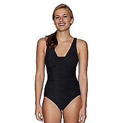 Lands' End - Black v neck slendersuit