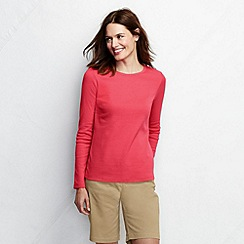 Lands' End - Red long sleeve ribbed crew neck t-shirt
