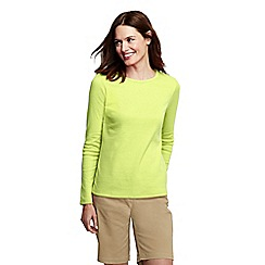 Lands' End - Yellow long sleeve ribbed crew neck t-shirt