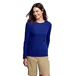 Lands' End - Blue long sleeve ribbed crew neck t-shirt