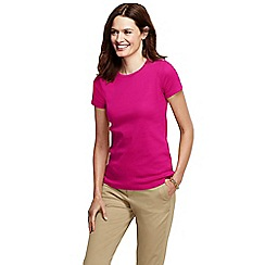 Lands' End - Pink short sleeve ribbed crew neck t-shirt