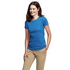 Lands' End - Blue short sleeve ribbed crew neck t-shirt