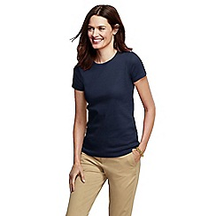 Lands' End - Blue regular short sleeve cling free rib tee
