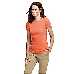 Lands' End - Orange short sleeve ribbed crew neck t-shirt