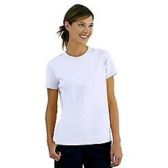 Lands' End - White short sleeve ribbed crew neck t-shirt