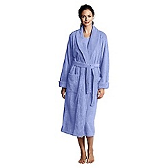 Lands' End - Petite purple women's luxury terry robe