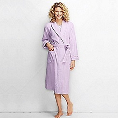 Lands' End - Lilac women's petite luxury terry robe