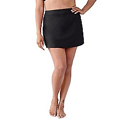 Lands' End - Black women's plus size beach living tummy control swimmini