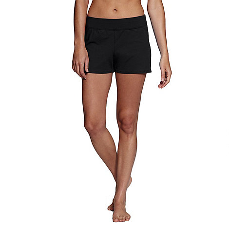Lands+ End - Black tummy control swim shorts