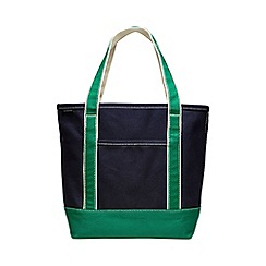 Lands' End - Blue medium open top coloured canvas tote