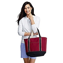 Lands' End - Red medium open top coloured canvas tote