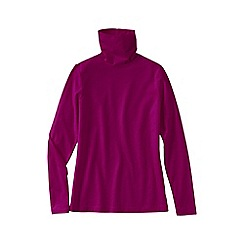 Lands' End - Pink women's regular fitted cotton/modal roll neck