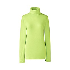 Lands' End - Lime fitted cotton/modal roll neck