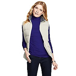 Lands' End - Blue women's petite fitted cotton/modal roll neck