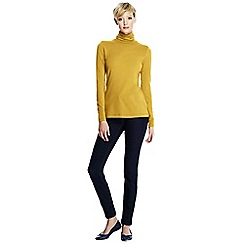 Lands' End - Yellow women's petite fitted cotton/modal roll neck